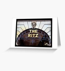The Ritz Greeting Card
