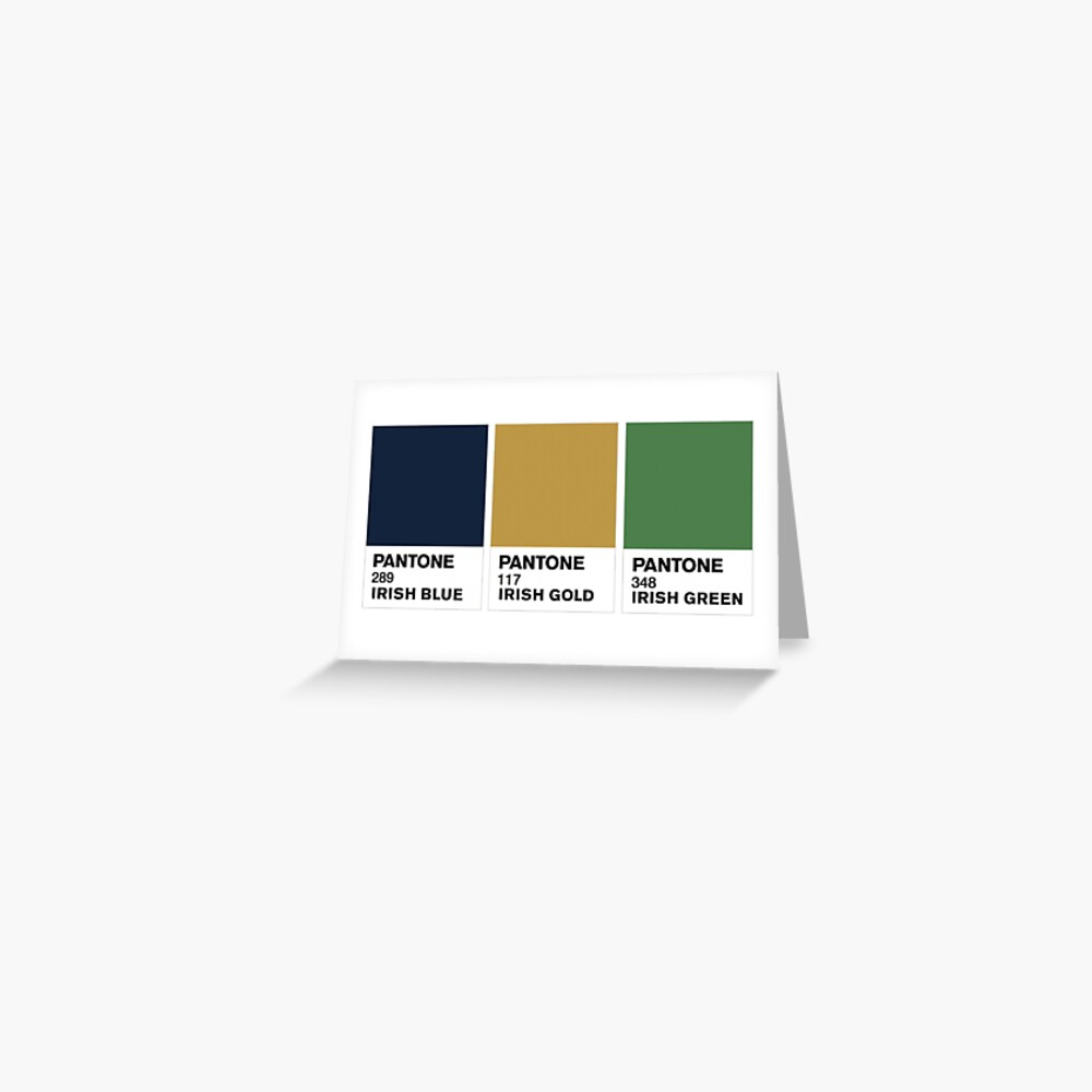 Notre Dame Colors | Greeting Card