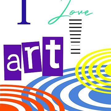 i LOVE ART RETRO GRAPHIC DESIGN BY JANE HOLLOWAY 2018 by cradox