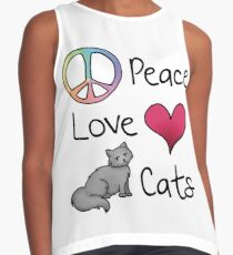 Peace Love Cats Contrast Tank