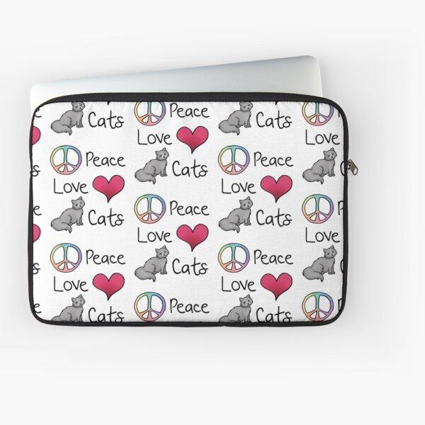 Peace Love Cats Laptop Sleeve