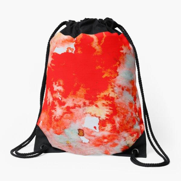 Abstract: Scarlet and Teal Drawstring Bag