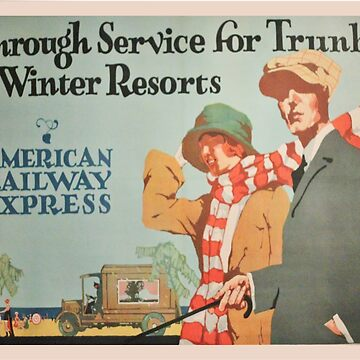 Vintage poster - American Railroads by mosfunky