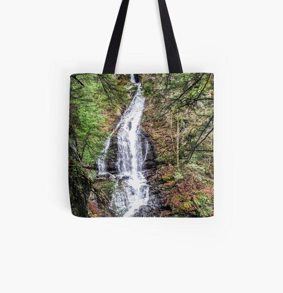 moss glen falls waterfall All Over Print Tote Bag