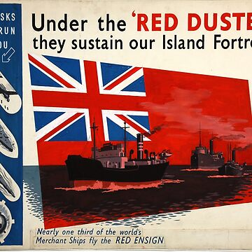 Vintage poster - Under the Red Duster by mosfunky