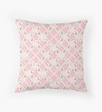 Pink patchwork patterned squares Floor Pillow