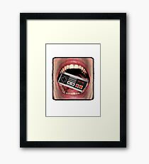 Console Mouth Framed Print