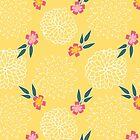 lemon florals by Gkumar-design