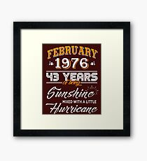 43rd Birthday Gifts - 43rd Wedding Anniversary Memorable Gifts - February 2019 Framed Print