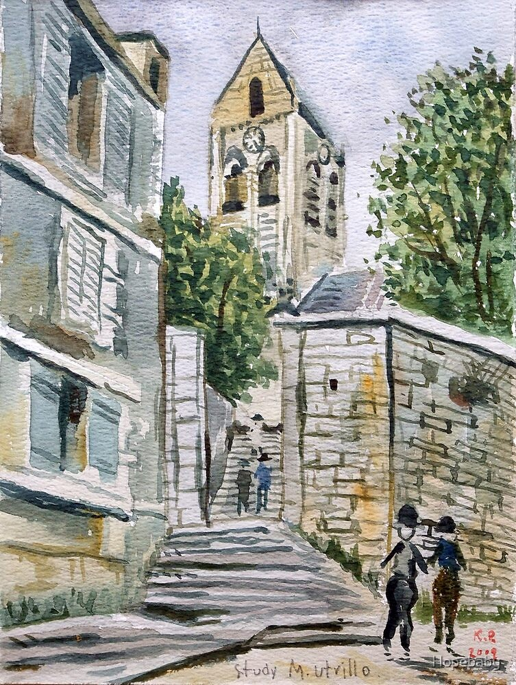 Study of a Maurice Utrillo painting. by Hopebaby