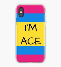 Panromantic Flag Asexual I'm Ace Asexual T-Shirt iPhone Case