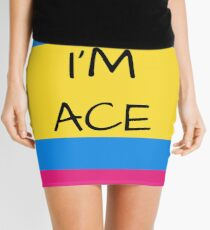 Panromantic Flag Asexual I'm Ace Asexual T-Shirt Mini Skirt