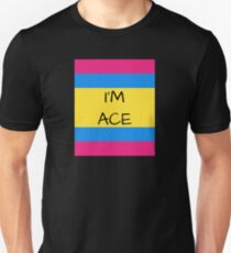 Panromantic Flag Asexual I'm Ace Asexual T-Shirt Unisex T-Shirt