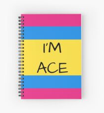 Panromantic Flag Asexual I'm Ace Asexual T-Shirt Spiral Notebook