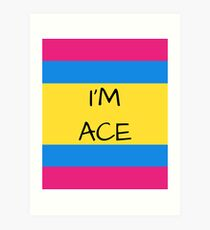 Panromantic Flag Asexual I'm Ace Asexual T-Shirt Art Print