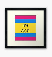 Panromantic Flag Asexual I'm Ace Asexual T-Shirt Framed Print