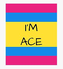 Panromantic Flag Asexual I'm Ace Asexual T-Shirt Photographic Print