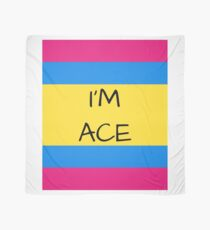 Panromantic Flag Asexual I'm Ace Asexual T-Shirt Scarf
