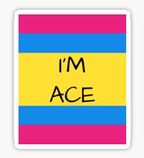 Panromantic Flag Asexual I'm Ace Asexual T-Shirt Sticker