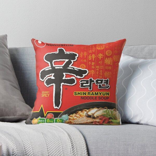 Nongshim Shin Ramyun (Spicy) Throw Pillow