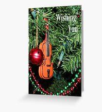 Violin for Christmas Card Greeting Card