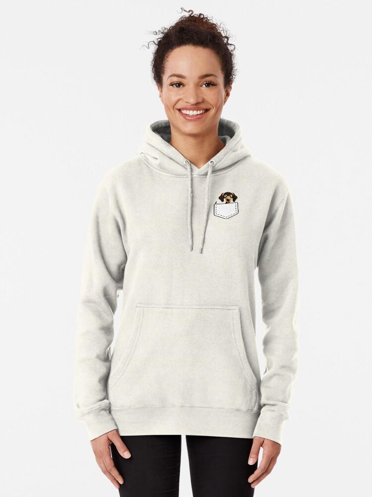 Dachshund Love Sweater with Pockets Womens Casual Fleece Long Hoodies Dress