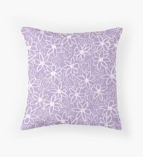 Lavender Floral Pattern  Throw Pillow
