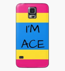 Panromantic Flag Asexuality I'm Ace Asexual T-Shirt Case/Skin for Samsung Galaxy