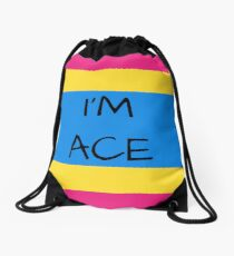 Panromantic Flag Asexuality I'm Ace Asexual T-Shirt Drawstring Bag