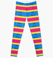 Panromantic Flag Asexuality I'm Ace Asexual T-Shirt Leggings