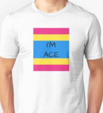 Panromantic Flag Asexuality I'm Ace Asexual T-Shirt Unisex T-Shirt