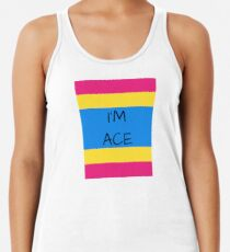 Panromantic Flag Asexuality I'm Ace Asexual T-Shirt Women's Tank Top