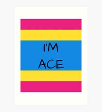 Panromantic Flag Asexuality I'm Ace Asexual T-Shirt Art Print