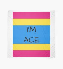 Panromantic Flag Asexuality I'm Ace Asexual T-Shirt Scarf