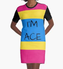 Panromantic Flag Asexuality I'm Ace Asexual T-Shirt Graphic T-Shirt Dress