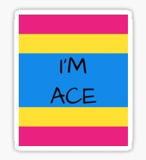 Panromantic Flag Asexuality I'm Ace Asexual T-Shirt Sticker
