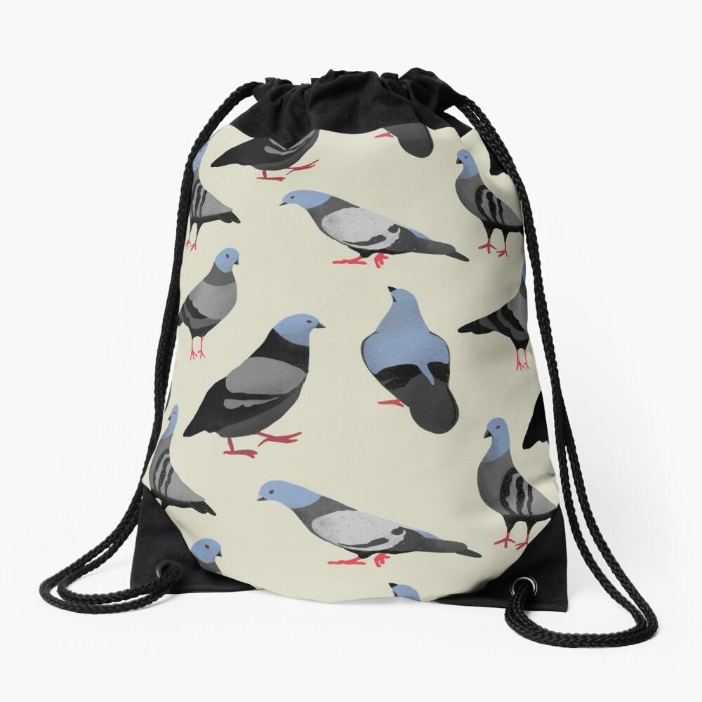 Design 33 - The Pigeons Drawstring Bag