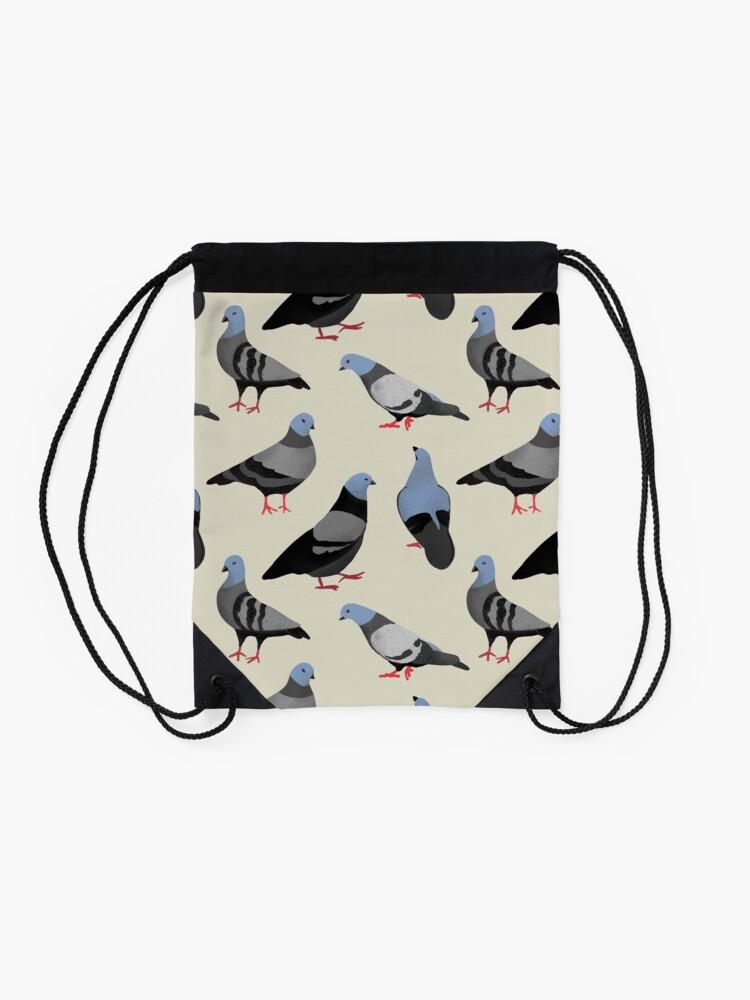 Alternate view of Design 33 - The Pigeons Drawstring Bag