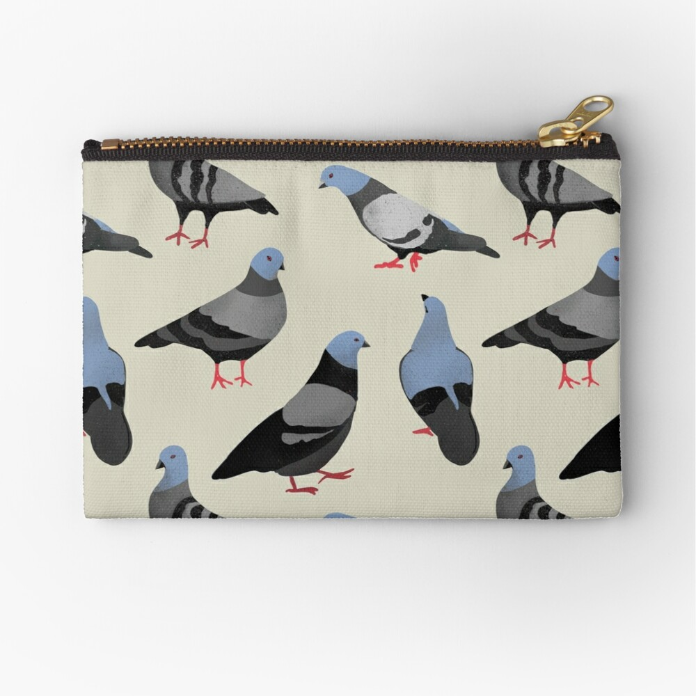 Design 33 - The Pigeons Zipper Pouch