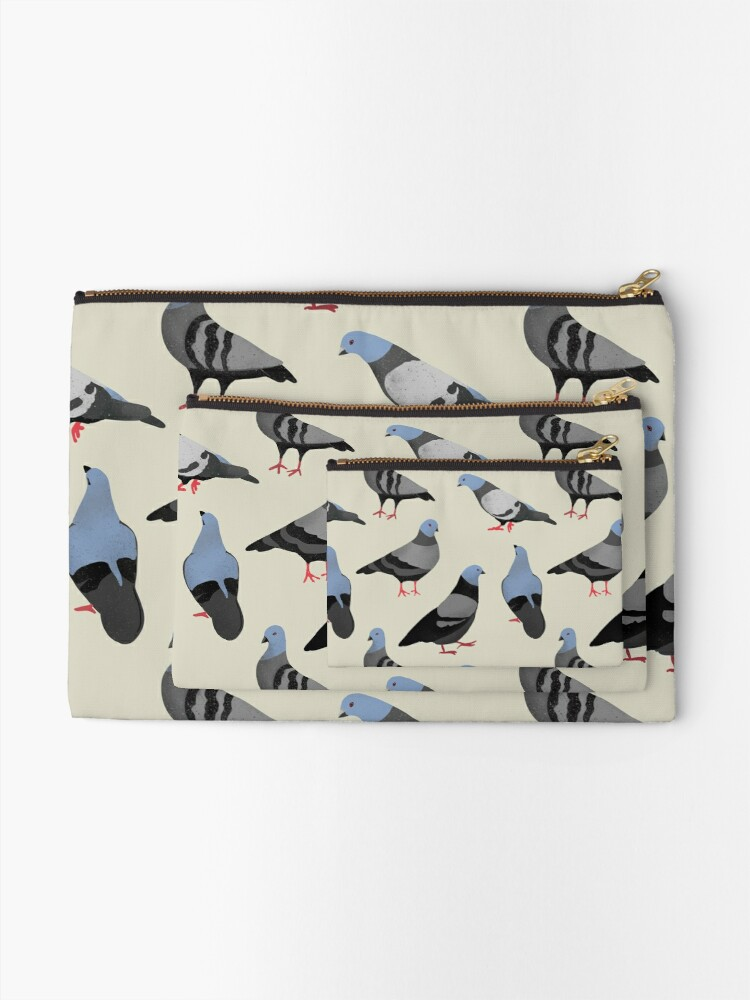 Alternate view of Design 33 - The Pigeons Zipper Pouch