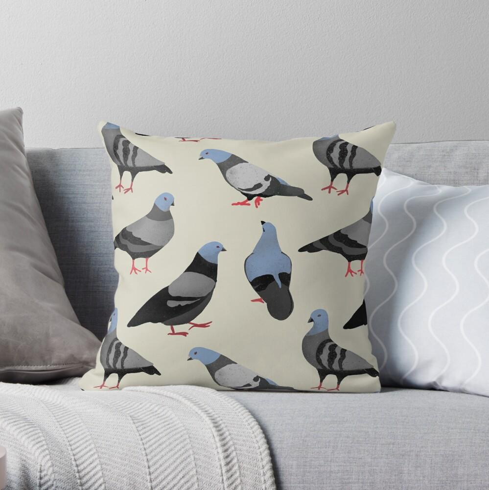 Design 33 - The Pigeons Throw Pillow