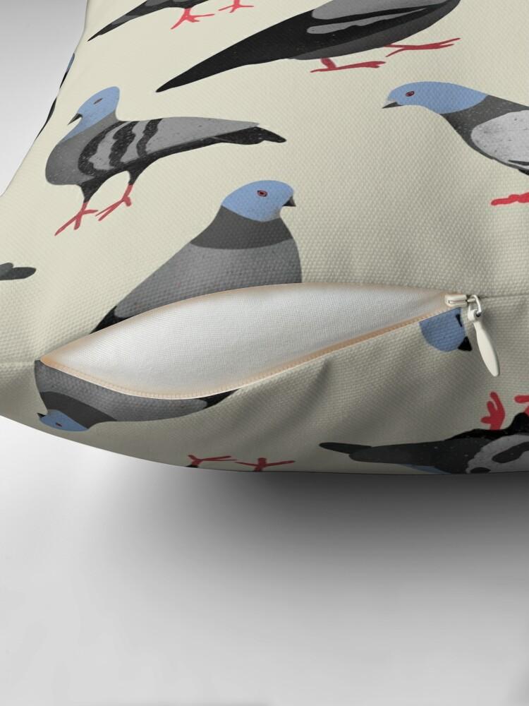 Alternate view of Design 33 - The Pigeons Floor Pillow