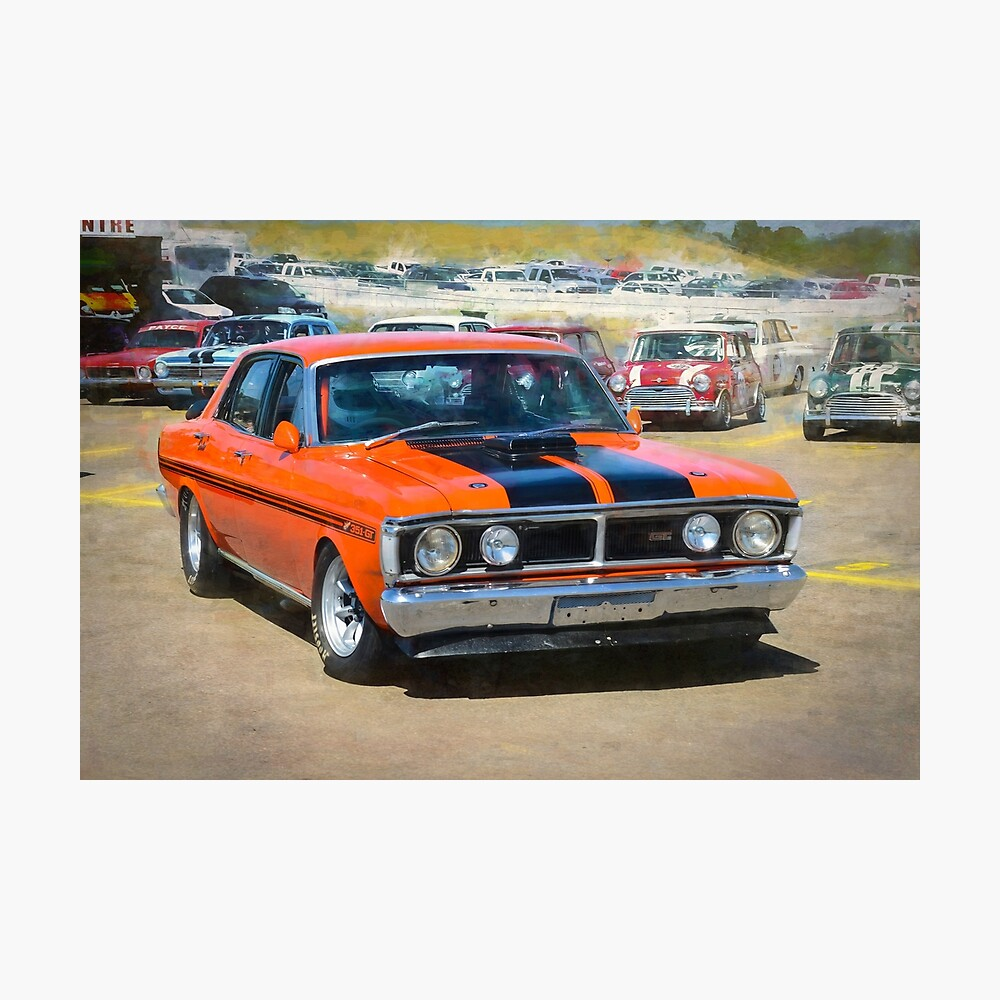 Red XY Ford Falcon 351GT Photographic Print