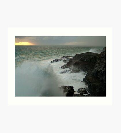 Storm,Cape Bridgewater Art Print