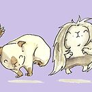 Popcorning Guinea Pigs by Alittlebitiffy