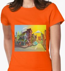 best drawing city - Best Image City Women's Fitted T-Shirt