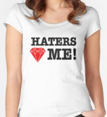 Haters love me Women's Fitted Scoop T-Shirt