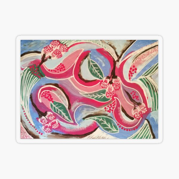 Gum Blossom Transparent Sticker