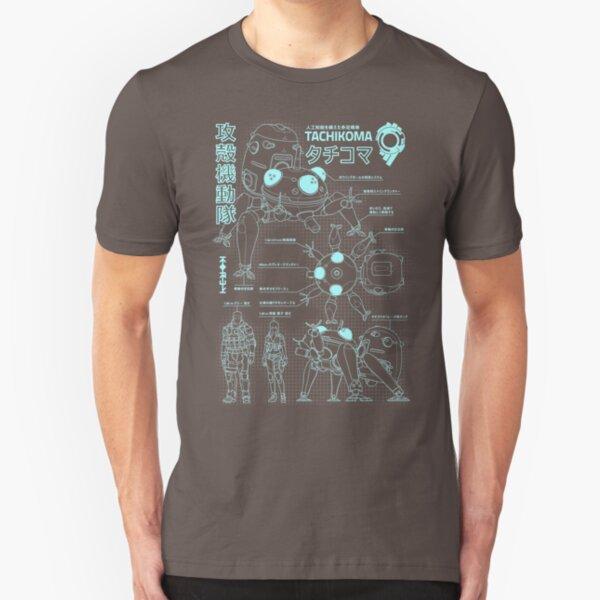 Tachikoma blueprint (boy) Slim Fit T-Shirt