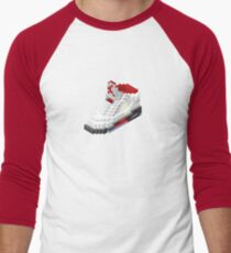 Air jordan V cube pixel Men's Baseball ¾ T-Shirt